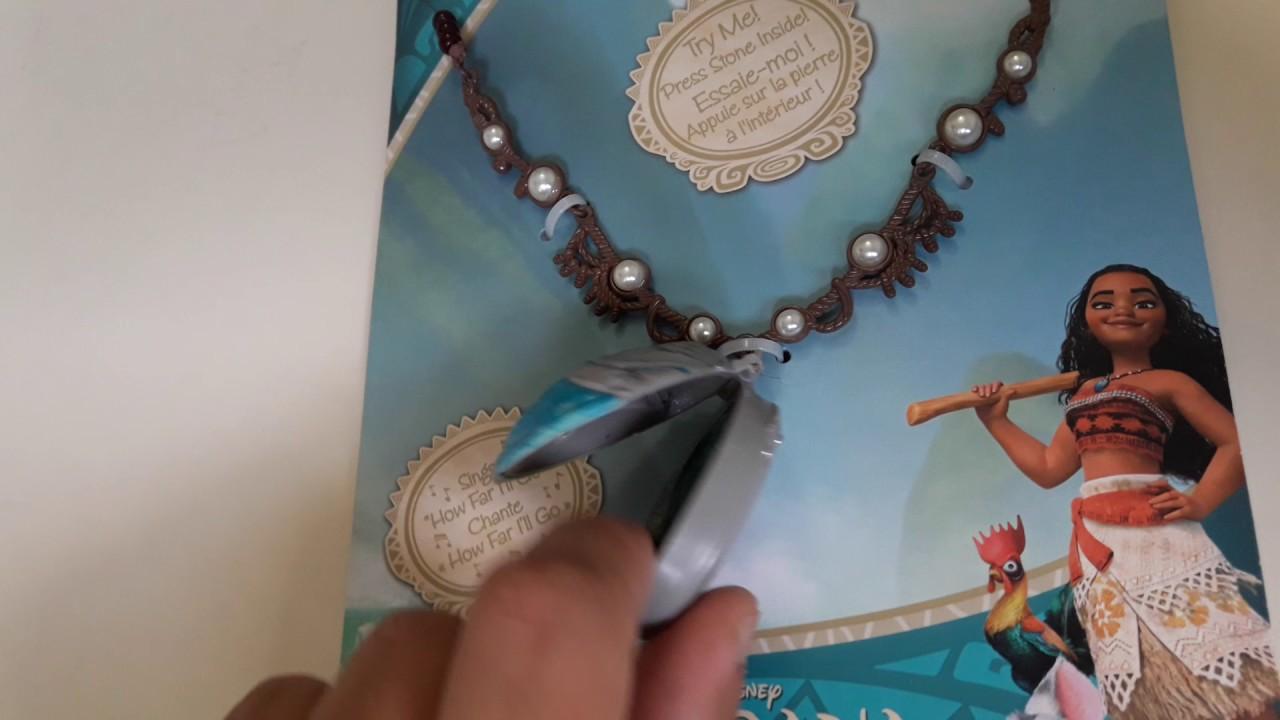 ccd79b33a014 Collar Moana Disney Original con Musica - Argentina - YouTube