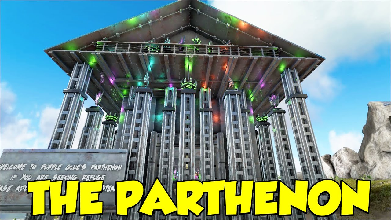 Ark Survival Evolved The Parthenon Best Design EVER!!