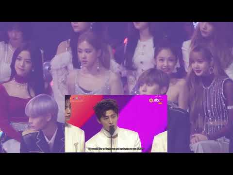 BLACKPINK reacts to iKON SOTY speech in MMA 2018 (PINKON) 181201