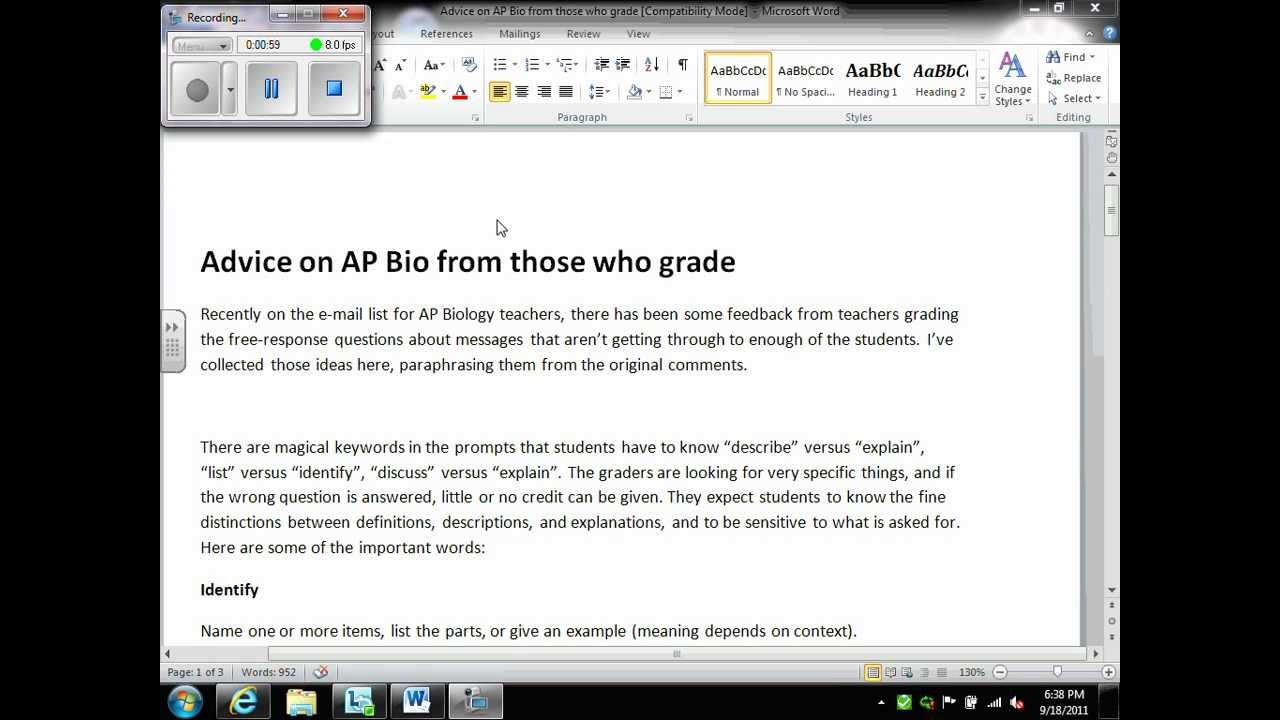 Ap biology free response essay questions