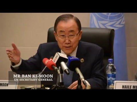 UN Secretary General Ban Ki-moon - AU Summit Press Conference