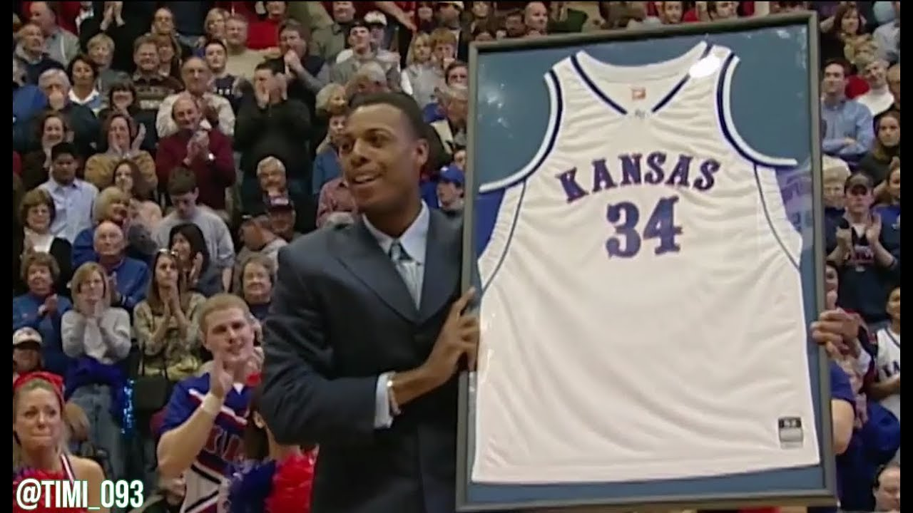 buy online ac37e f7d0a Paul Pierce Jersey Retirement Ceremony: Video Tributes -- Kansas Jayhawks