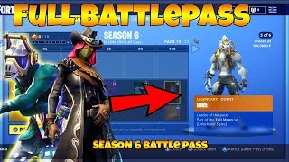 FORTNITE SEASON 6 FULL BATTLE PASS & SEASON 6 SKINS (FORTNITE SEASON 6 ALL UNLOCKS ON BATTLE PASS)