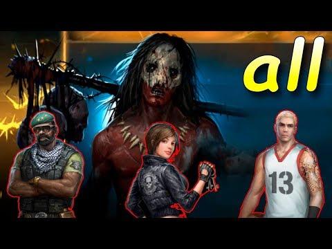 Все Персонажи! баг с клеткой! Horrorfield Multiplayer Survival Horror Game - android games