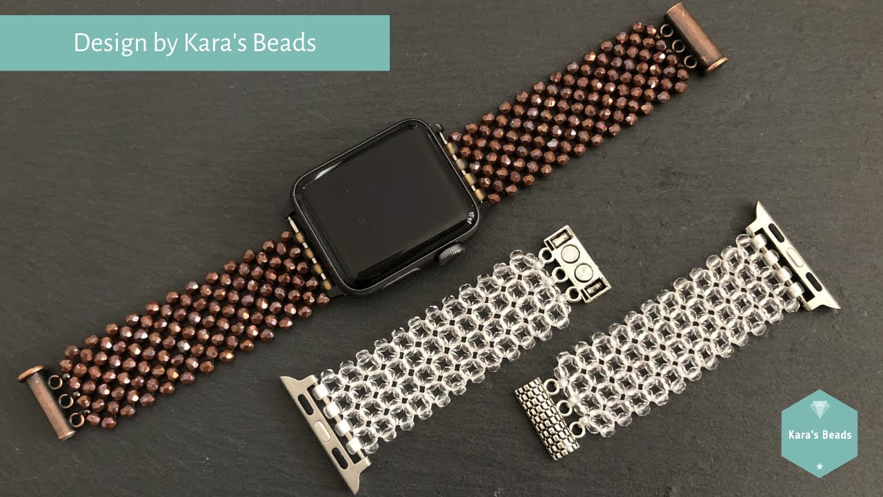 Beaded Watch Band Tutorial | Apple Samsung DIY Band | Beaded Accessories | Right Angle Weave