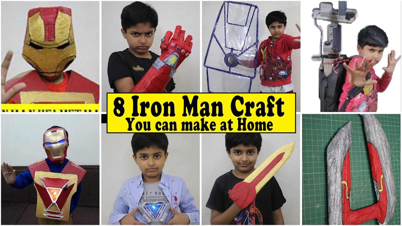 8 Iron Man Weapons you can make at home - All Iron Man DIY Compilation   Easy DIY Cardboard Craft