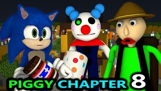 PIGGY CHAPTER 8 vs BALDI & SONIC! ROBLOX SPEEDRUNNER CHALLENGE! BOOK horror Minecraft Animation
