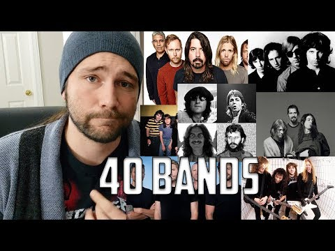 Describing 40 Bands in 1 Sentence or Less | Mike The Music Snob Reacts