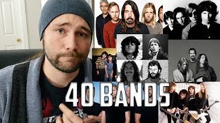 Describing 40 Bands in 1 Sentence or Less   Mike The Music Snob Reacts