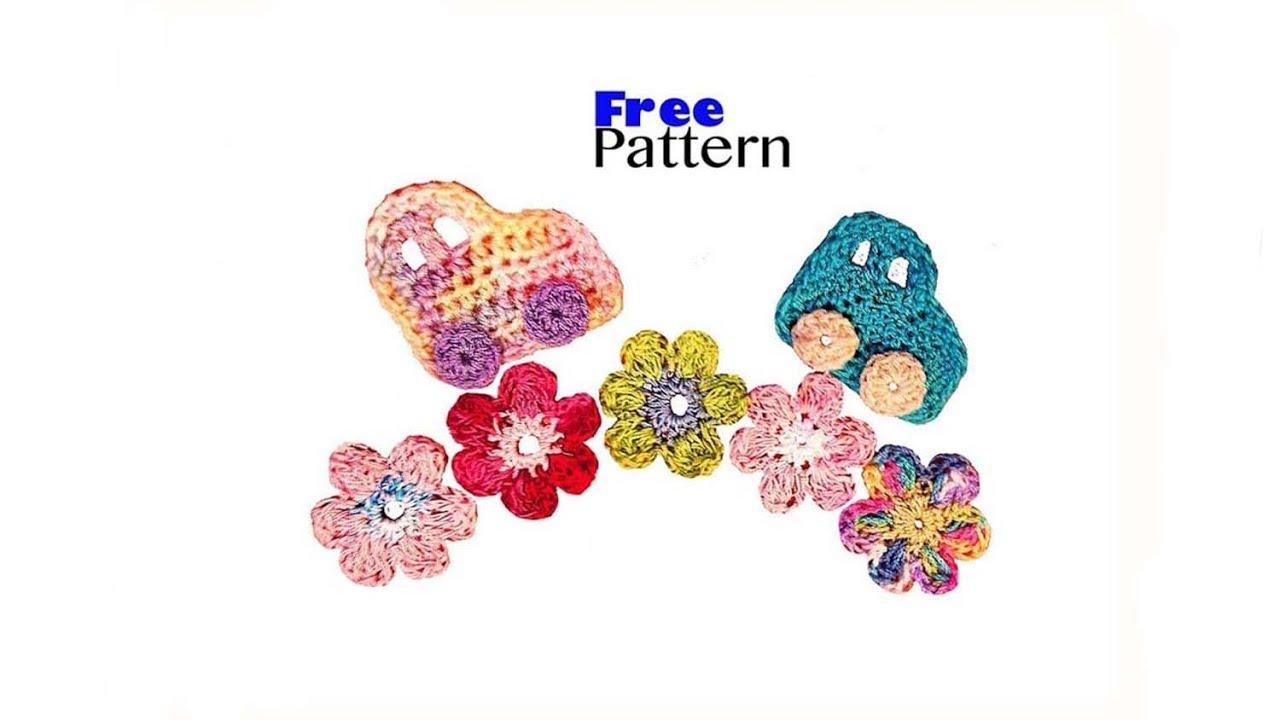 Free pattern crochet car embellishment applique tutorial youtube bankloansurffo Choice Image
