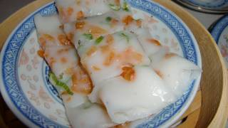 Chinese steamed rice noodle rolls (Cheung Fun) Dim Sum, 教做蒸腸粉