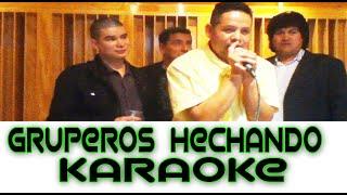 Fiesta privada de gruperos en el estudio de grabación de Lalo del Trono de México