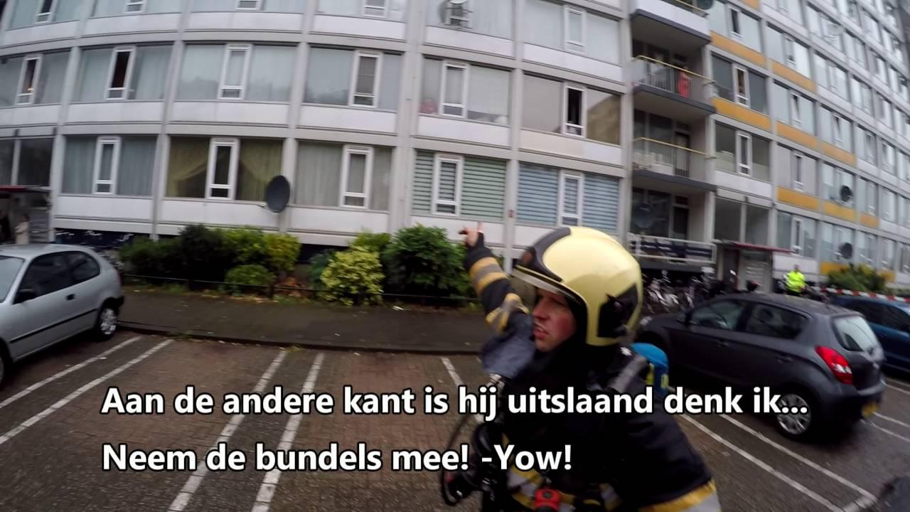 Brandweer Utrecht in actie: Flatbrand Ibisdreef 27-7-2016 ...