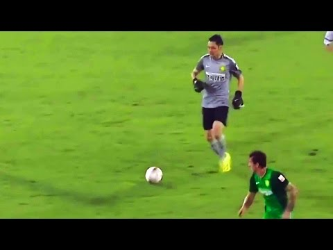 Crazy Chinese Goalkeeper Thinks He's Playing FIFA! Tries To Dribble Entire Length Of Pitch..& FAILS!