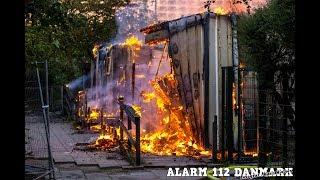 10.07.2019 - Voldsom brand i bygning - Hvidovre