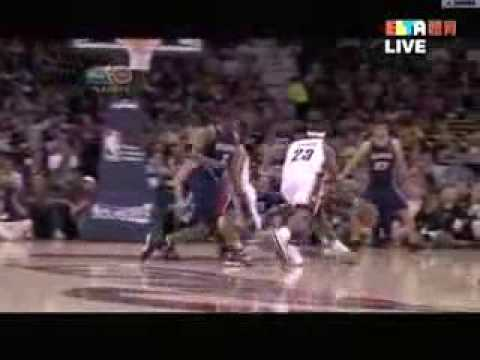 LeBron James 34 Points vs Atlanta Hawks Game 1 2009 NBA Playoffs