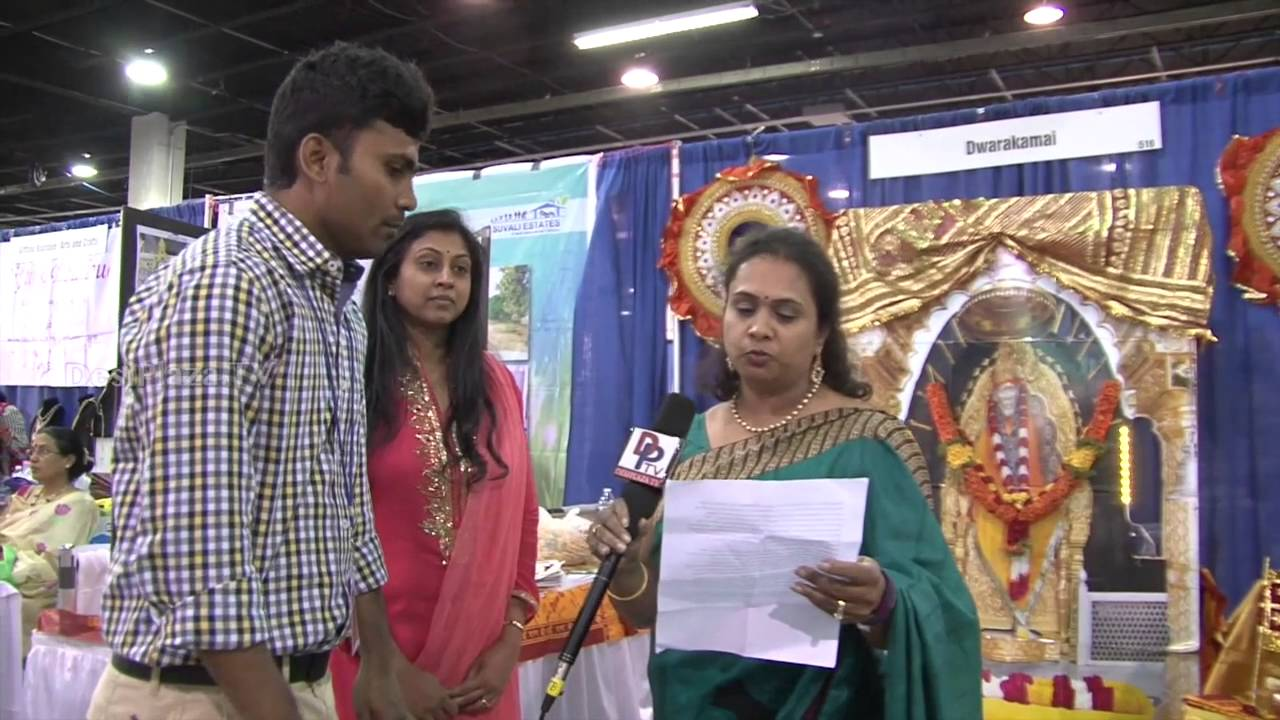 Srilatha from Dwarakamai,Massachusetts speaking to Desiplaza TV at ATA Convention 2016.