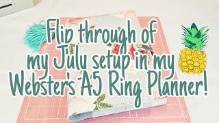 Flip through of my July setup in my Webster's A5 Ring Planner | Planning With Eli