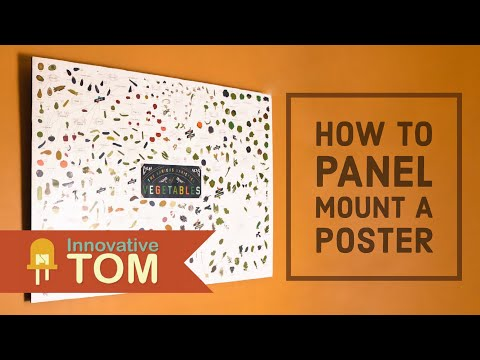 How To Mount a Poster or Print To a Plywood Panel