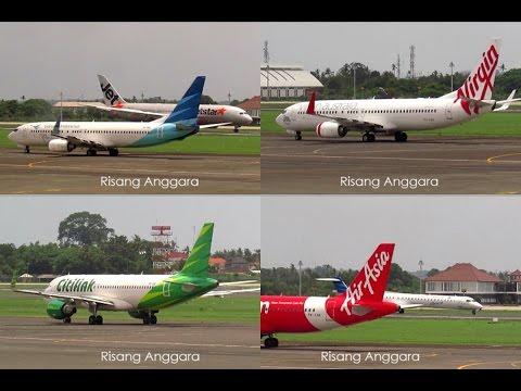 Plane Activities at Denpasar Bali : Jetstar, Citilink, Air Asia, Garuda, NAM Air, Virgin Australia
