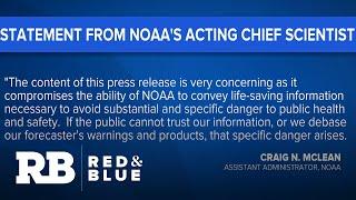 "NOAA chief scientist slams agency's ""political"" response to Trump's Dorian map"
