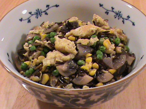 mushroom-fried-rice-(wild-rice)---quick-&-easy-cuisine-by-chinese-home-cooking-weeknight