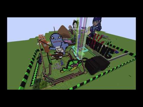 MSU Media Camps 2016 - Game Design with Minecraft Theme Park Time Lapse