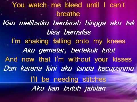 Lirik Lagu Dan Terjemahan - Stitches - Shawn Mendes