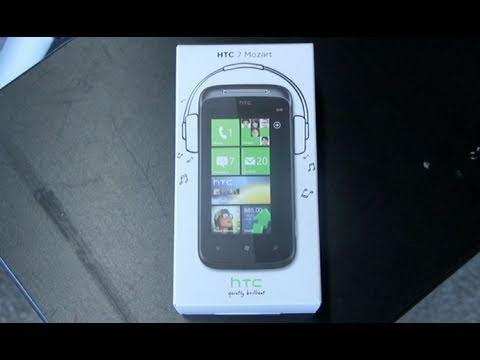HTC 7 Mozart Unboxing - German