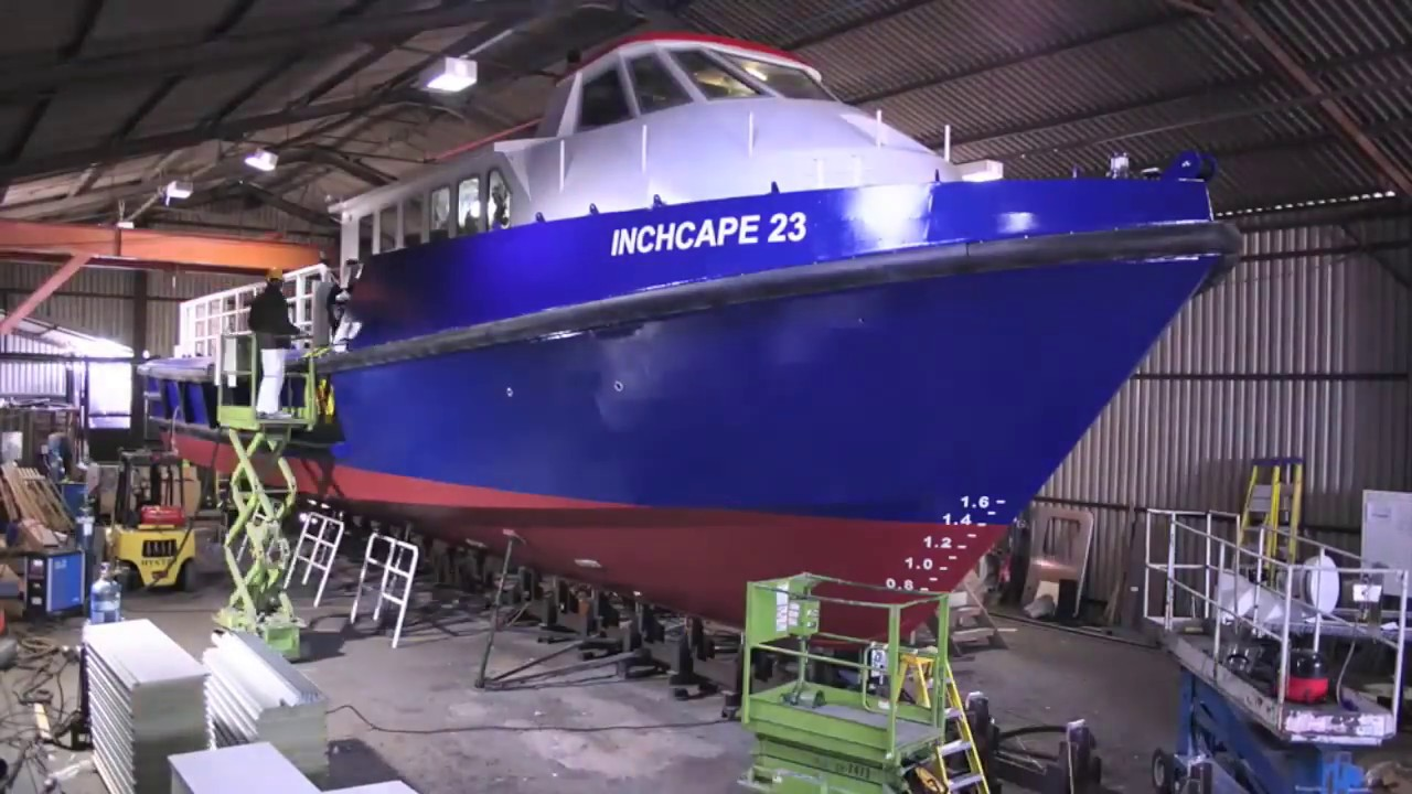 23 metre work boat aluminum time lapse build - YouTube
