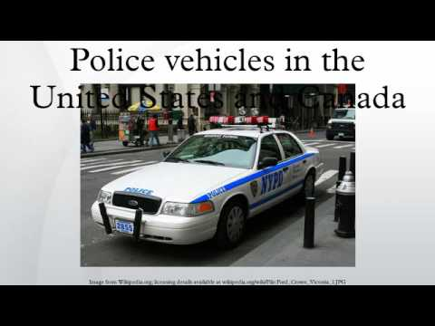 Police vehicles in the United States and Canada