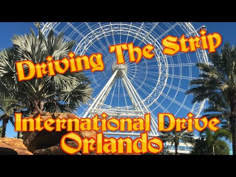 Driving The Strip (International Drive) In Orlando Florida.