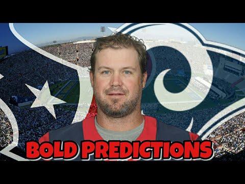 Shane Lechler second half of season MVP!? Texans @ Rams Week 10 Bold Predictions