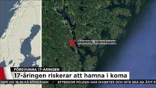 Sökinsatsen efter försvunna 17-åringen trappas upp - Nyheterna (TV4)