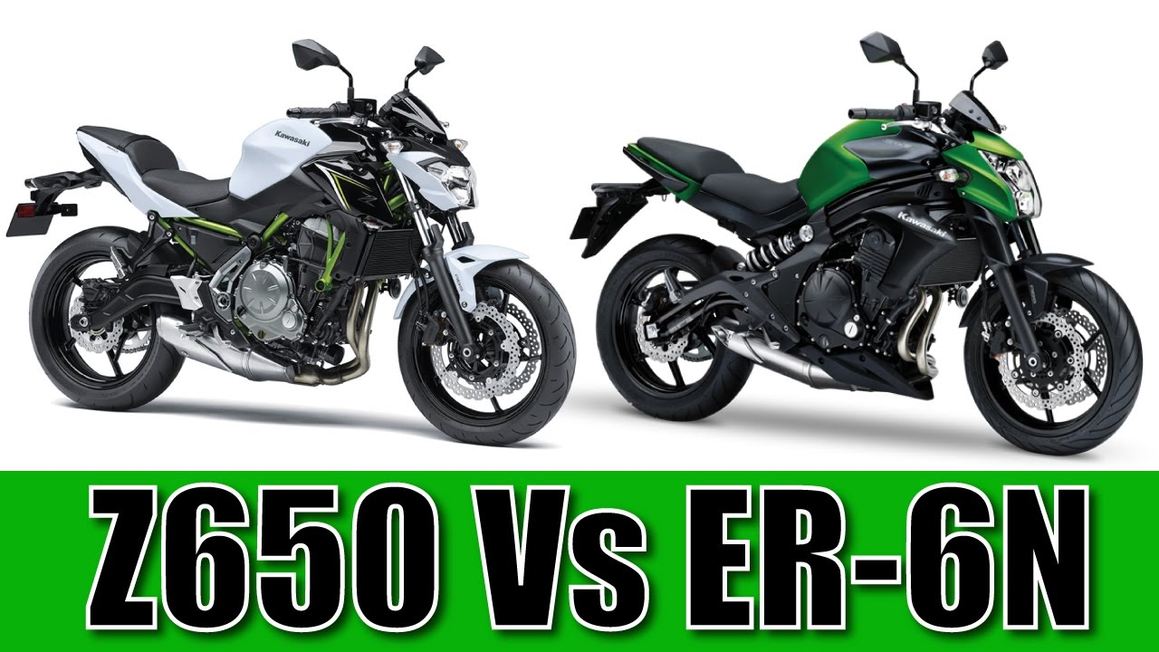 Kawasaki Z650 Vs Er6n Comparison Overlap