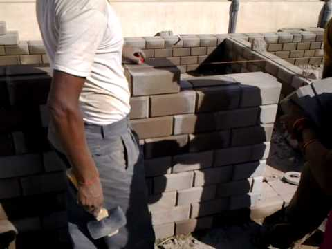 Masonry of low cost house using ABE Eco Interlocking Block by AB ENGITECH