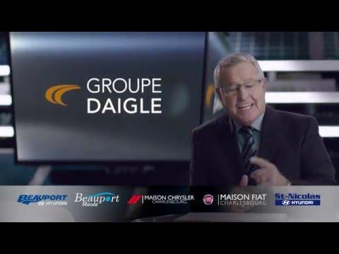 Publicité avec M. Michel Bergeron pour le Groupe Daigle