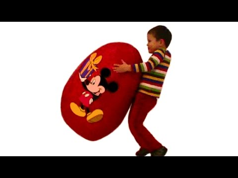 Мики Маус огромное яйцо с сюрпризом открываем игрушки Mickey Mouse énorme oeuf avec une surprise