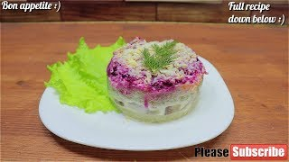 "Russian Salad With Herring ""Shuba"" 