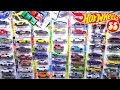 Opening 55 HOT WHEELS Carded Toy Cars - Sports cars, Trucks, Muscle cars, Police, Racecars and more!