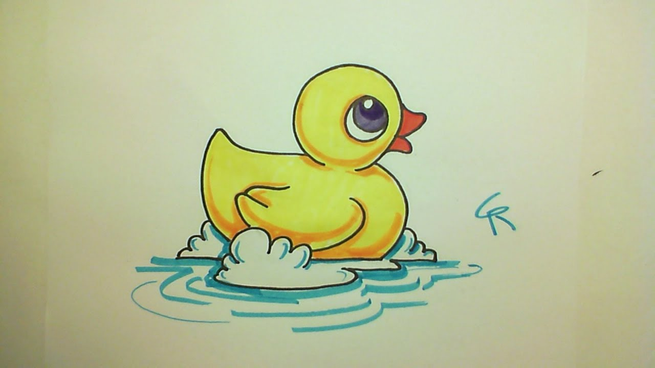 Cute Ducks In Water Wallpaper Learn How To Draw A Cute Rubber Ducky Icanhazdraw