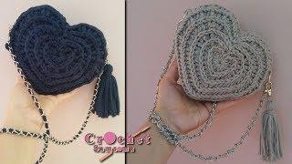 كروشيه حقيبة يد مميزة على شكل قلب //  Crochet Bag Tutorial