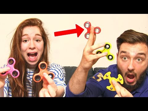 HAND SPINNER CHALLENGE en COUPLE ! ACCIDENT et TRICK SHOT !