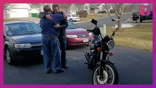 Son Surprises Dad With Beloved Bike After Secretly Restoring It