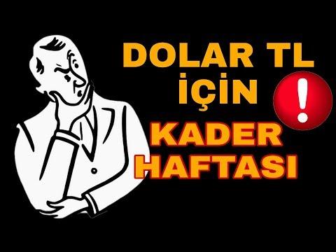 DOLAR TL İÇİN KADER HAFTASI !!!