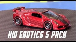 Hot Wheels 2018/19 Exotics 5-Pack Set | Unboxing & Review