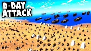 EPIC D-Day Battle!  The Ultimate WW2 Battle Simulator Game (WW2 Battle Sim -MOWAS2 Huaji Mod)