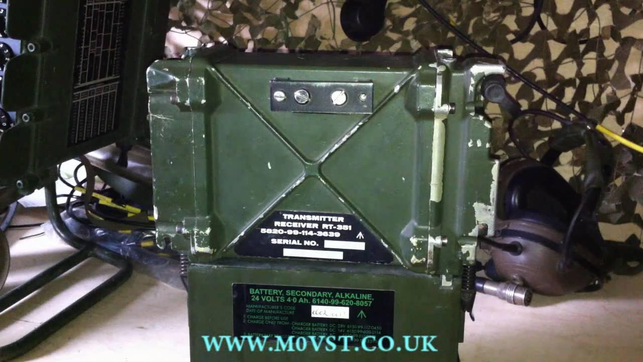 PRC-351/2 VHF MIlitary Manpack Transceiver [HD] - M0VST