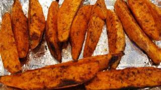Easy Bodybuilding Side Dish:  Healthy Oven-Baked Sweet Potato Wedges