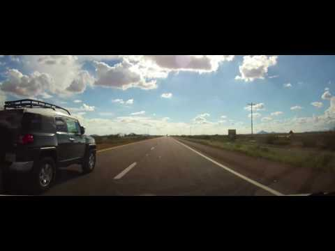 Driving on Interstate 10 from Deming, New Mexico to Arizona Border